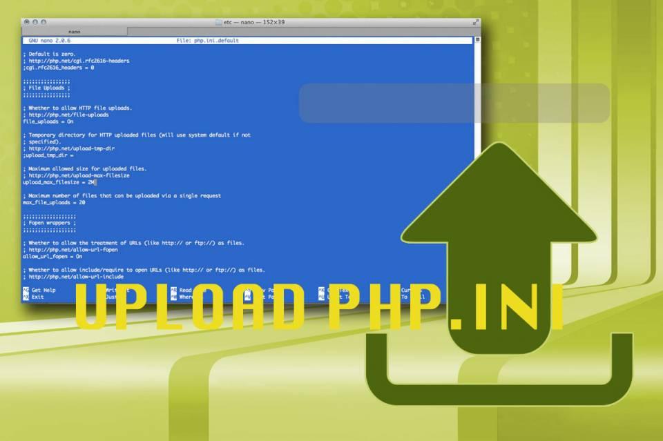 Grafik php Datei Upload Limit erhöhen