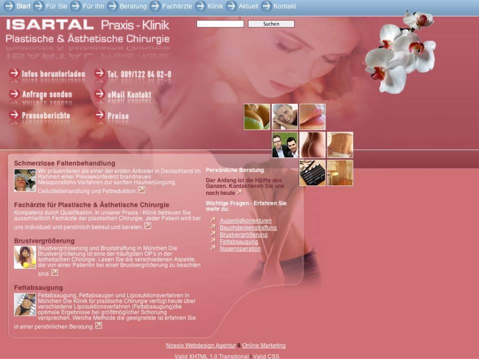 Screenshot Webdesign
