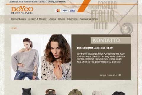 Konzept Bild Online Shop