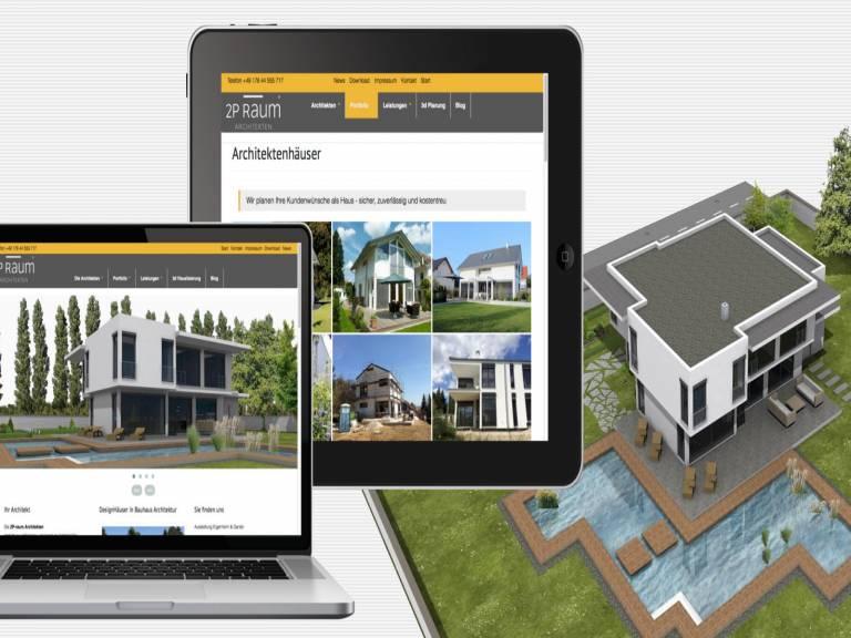 Webdesign Drupal mit Bootstrap für Architekt