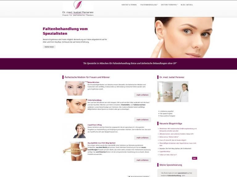 Screenshot Praxis Homepage München Dr. Perianez