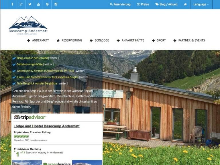 Berghütte und Ferienhaus Webdesign Schweiz